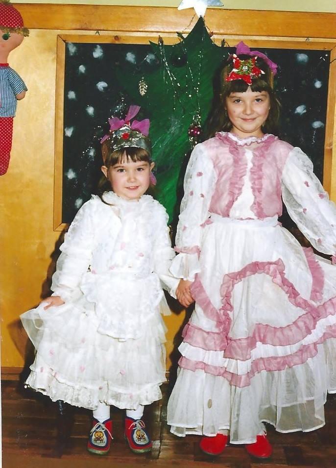Gwiazdy karnawału w sukniach z firanki :)