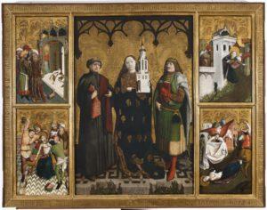 Wilhelm Kalteysen von Oche, Ołtarz św. Barbary, środkowa tablica, 1447 r. Muzeum Narodowe w Warszawie