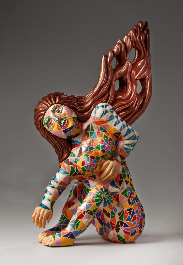1. Mozaika, rzeźba polichromowana, Jan Koloczek, Nysa, 2011, drewno, farby akrylowe, wł. Bogdan Jasiński, fot. Wojciech Rogowicz