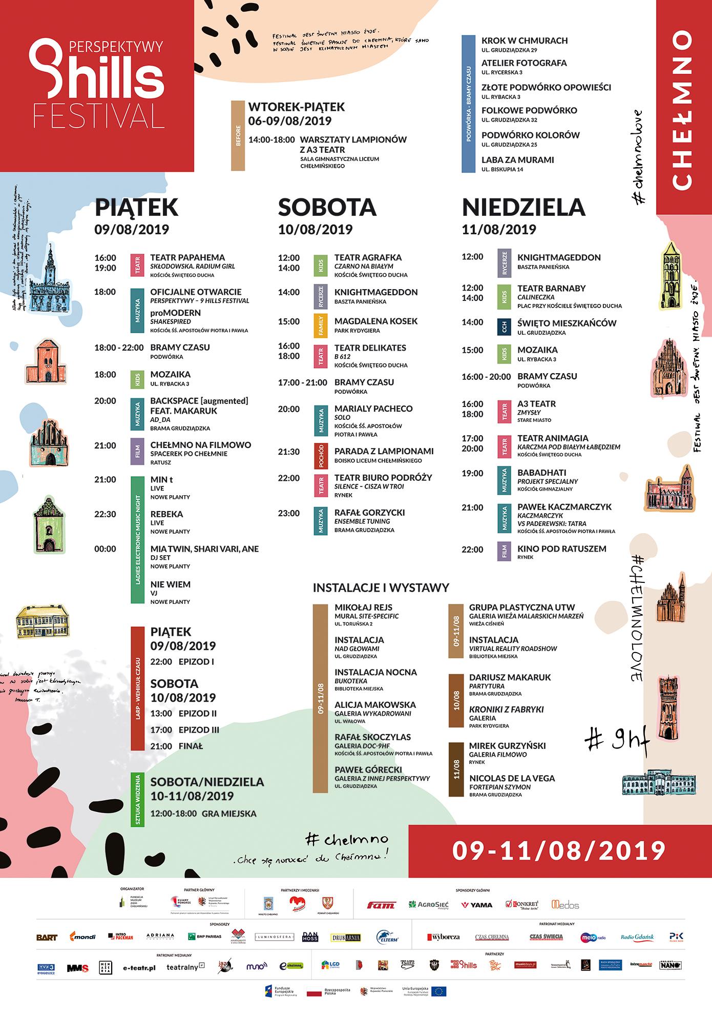 """Chełmno i Perspektywy - 9 Hills Festival, czyli sztuka, która opanuje miasto. """"Będzie dziać się magia"""""""